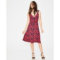 Willa Jersey Dress Red Women Boden, Red