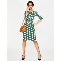 Michelle Jersey Dress Green Women Boden, Green