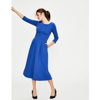 Harley Textured Dress Blue Women Boden, Blue