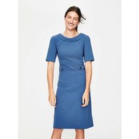 Betty Ottoman Dress Blue Women Boden, Blue