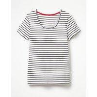Essential Short Sleeve Tee Navy Women Boden, Navy
