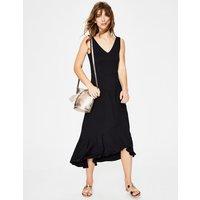 Elisa Jersey Dress Black Women Boden, Black