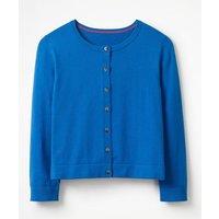 Favourite Crop Crew Cardigan Blue Women Boden, Blue