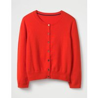 Cashmere Crop Crew Cardigan Red Women Boden, Red
