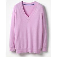 Cashmere Relaxed V-neck Jumper Purple Women Boden, Purple