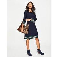 Trudy Knitted Dress Navy Women Boden, Navy