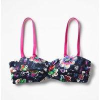 Amalfi Bandeau Bikini Top Navy Women Boden, Multicouloured