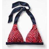 Positano Halter Bikini Top Red Women Boden, Red