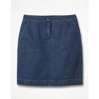 Chino Skirt Blue Women Boden, Denim