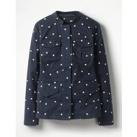 Carly Embroidered Jacket Navy Women Boden, Navy
