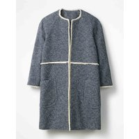 Beatrice Textured Coat Navy Women Boden, Navy