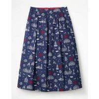 Lola Skirt Navy Women Boden, Navy
