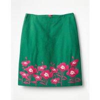 Fun Embroidered Skirt Green Women Boden, Green