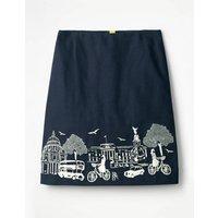 Fun Embroidered Skirt Navy Women Boden, Navy