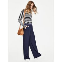 Marlin Wide Leg Trousers Navy Women Boden, Navy