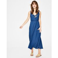 Idelle Midi Dress Blue Women Boden, Blue