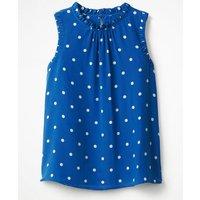 Effie Silk Top Blue Women Boden, Blue