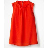 Effie Silk Top Red Women Boden, Red