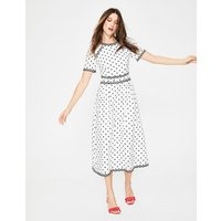Kimberly Embroidered Dress Blue Women Boden, Blue