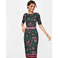 Fleur Fitted Dress Green Women Boden, Green