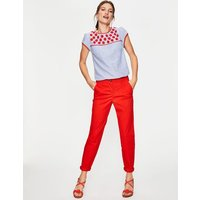Boden Rachel Chino Trousers Red Women Boden, Red