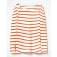 Long Sleeve Breton Orange Women Boden, Orange