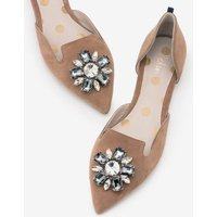 Leah Jewelled Flats Brown Women Boden, Brown