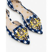 Leah Jewelled Flats Navy Women Boden, Navy