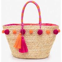 Pompom Beach Bag Pink Women Boden, Pink