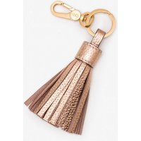 Boden Leather Tassel Keyring Metallic Women Boden, Metallic