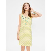 Tarifa Jersey Dress Yellow Women Boden, Yellow