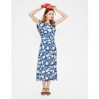 Adelina Jersey Dress Blue Women Boden, Blue