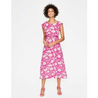 Adelina Jersey Dress Pink Women Boden, Pink