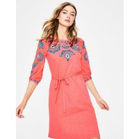Leyla Embroidered Jersey Dress Pink Women Boden, Pink