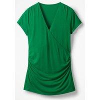 Short Sleeve Wrap Top Green Women Boden, Green