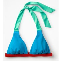 Positano Halter Bikini Top Blue Women Boden, Blue