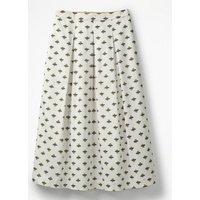 Lola Skirt Ivory Women Boden, Ivory