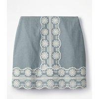 Fun Embroidered Skirt Blue Women Boden, Blue
