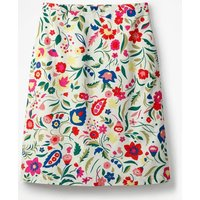Printed Cotton A-line Skirt Multi Women Boden, Ivory