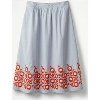 Haidee Embroidered Skirt Blue Women Boden, Blue