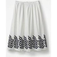 Haidee Embroidered Skirt White Women Boden, White