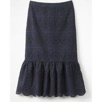 Broderie Skirt Navy Women Boden, Navy