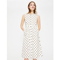 Leila Shirt Dress Ivory Women Boden, Ivory