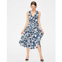 Allyson Silk Wrap Dress Blue Women Boden, Blue