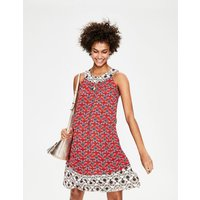 Printed Swing Dress Red Women Boden, Red