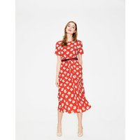 Ruth Midi Dress Red Women Boden, Red