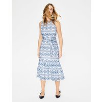 Broderie Dress White Women Boden, White