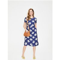 Sierra Textured Dress Blue Women Boden, Blue