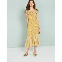Allegra Midi Dress Yellow Women Boden, Yellow