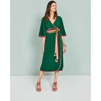Cornelia Wrap Dress Green Women Boden, Green